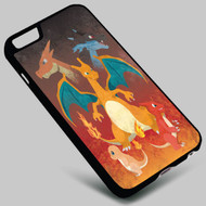 Pokemon Charmander Evolution Charizard on your case iphone 4 4s 5 5s 5c 6 6plus 7 Samsung Galaxy s3 s4 s5 s6 s7 HTC Case