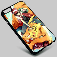 Red's Riding Charizard Pikachu Ash Pokemon on your case iphone 4 4s 5 5s 5c 6 6plus 7 Samsung Galaxy s3 s4 s5 s6 s7 HTC Case