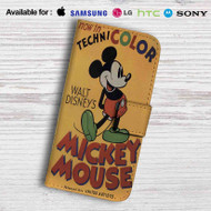 Disney Mickey Mouse Technicolor Leather Wallet iPhone 6 Case