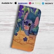 Disney Stitch Leather Wallet iPhone 7 Case