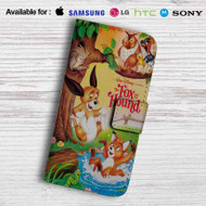 Disney The Fox and the Hound Leather Wallet iPhone 7 Case