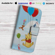 Winnie The Pooh Balloons and Friends Leather Wallet iPhone 7 Case