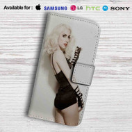 Lady Gaga Leather Wallet iPhone 7 Case