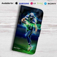 Aaron Rodgers Leather Wallet Samsung Galaxy S6 Case