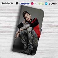 Adam Lambert Tattoo Leather Wallet Samsung Galaxy S6 Case