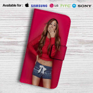 Ariana Grande Red Leather Wallet Samsung Galaxy S6 Case