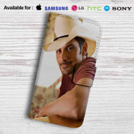 Brad Paisley Leather Wallet Samsung Galaxy S6 Case