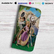 Tangled Rapunzel Flynn and Maximus Leather Wallet Samsung Galaxy S6 Case