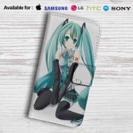 Hatsune Miku Leather Wallet Samsung Galaxy S6 Case