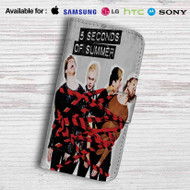 5 Seconds of Summer Leather Wallet Samsung Galaxy S7 Case