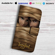 Tangled Rapunzel and Flynn Rider Leather Wallet Samsung Galaxy S7 Case