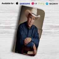 Garth Brooks Leather Wallet Samsung Galaxy S7 Case
