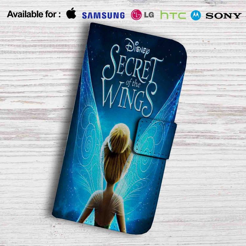 Disney Tinkerbell Wings Leather Wallet Samsung Galaxy S7 Case