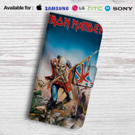 Iron Maiden Trooper Leather Wallet Samsung Galaxy S7 Case
