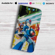 Mega Man Maverick Hunter X Leather Wallet Samsung Galaxy S7 Case