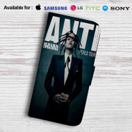 Rihanna Anti World Tour Leather Wallet Samsung Galaxy S7 Case