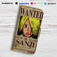 Sanji One Piece Wanted Leather Wallet Samsung Galaxy S7 Case