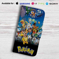 Pokemon Characters Leather Wallet Samsung Galaxy Note 6 Case