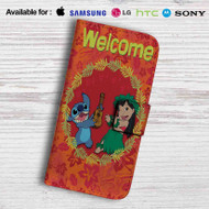 Disney Lilo and Stitch Welcome Leather Wallet LG G2 Case