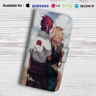 Sasuke Uchiha Sakura Haruno Naruto Shippuden Leather Wallet LG G2 Case