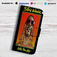 Stevie Wonder Hatter Than July Leather Wallet LG G2 Case