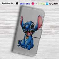 Stitch Disney Leather Wallet LG G2 Case