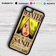 Sanji One Piece Wanted Samsung Galaxy S7 Case