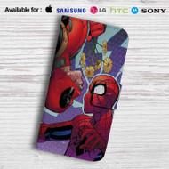 Deadpool Spiderman Leather Wallet LG G2 G3 G4 Case