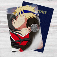 Ahri and Uzumaki Naruto Kiss Custom Leather Passport Wallet Case Cover