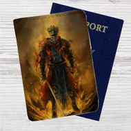 Dark Souls 3 Red Knight Custom Leather Passport Wallet Case Cover