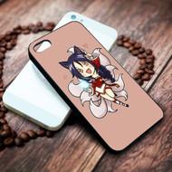 Ahri chibi League of Legends Chibis on your case iphone 4 4s 5 5s 5c 6 6plus 7 case / cases