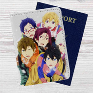 Iwatobi Swim Club Custom Leather Passport Wallet Case Cover