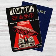 Led Zeppelin Mothership Custom Leather Passport Wallet Case Cover