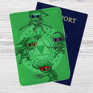 Link Ninja Turtles The Legend of Zelda Custom Leather Passport Wallet Case Cover