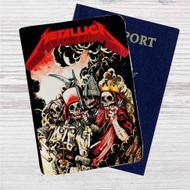 Metallica Four Horsemen Custom Leather Passport Wallet Case Cover