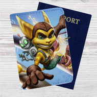 Ratchet & Clank Custom Leather Passport Wallet Case Cover