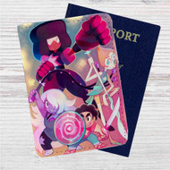 Steven Universe Custom Leather Passport Wallet Case Cover