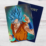 Super Saiyan Blue Goku Dragon Ball Super Custom Leather Passport Wallet Case Cover