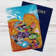 Teen Titans Go Custom Leather Passport Wallet Case Cover