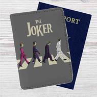 The Joker X The Beatles Custom Leather Passport Wallet Case Cover