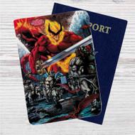 Thor Ragnarok Comic Custom Leather Passport Wallet Case Cover