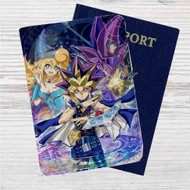 YuGiOh Duel Monster Dark Magician Custom Leather Passport Wallet Case Cover