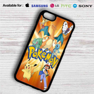 Ash and Pokemon on your case iphone 4 4s 5 5s 5c 6 6plus 7 Samsung Galaxy s3 s4 s5 s6 s7 HTC Case