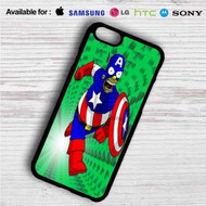 Bart Simpson Captain America on your case iphone 4 4s 5 5s 5c 6 6plus 7 Samsung Galaxy s3 s4 s5 s6 s7 HTC Case