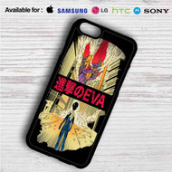 Neon Genesis Evangelion X Attack on Titan on your case iphone 4 4s 5 5s 5c 6 6plus 7 Samsung Galaxy s3 s4 s5 s6 s7 HTC Case