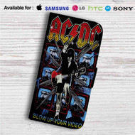 ACDC's Highway to Hell Custom Leather Wallet iPhone Samsung Galaxy LG Motorola Nexus Sony HTC Case