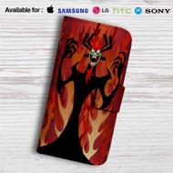 Aku Samurai Jack Custom Leather Wallet iPhone Samsung Galaxy LG Motorola Nexus Sony HTC Case