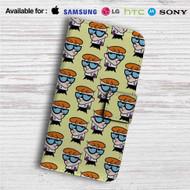 Dexters Laboratory Collage Custom Leather Wallet iPhone Samsung Galaxy LG Motorola Nexus Sony HTC Case