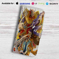 Digimon Raichi and Agumon Evolution Custom Leather Wallet iPhone Samsung Galaxy LG Motorola Nexus Sony HTC Case