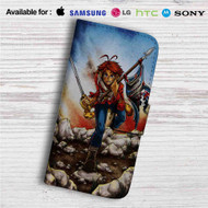Helix The Trooper Iron Maiden Custom Leather Wallet iPhone Samsung Galaxy LG Motorola Nexus Sony HTC Case